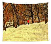 Solitude With A Friend Tapestry