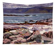 Sound Of Iona  The Burg From The North Shore Tapestry