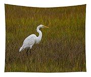 Soundside Park Topsail Island Egret Tapestry