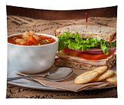 Soup And Sandwich Tapestry
