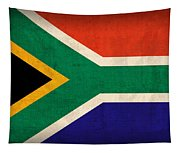 South Africa Flag Vintage Distressed Finish Tapestry