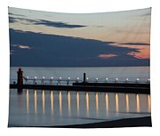 South Haven Michigan Lighthouse Tapestry