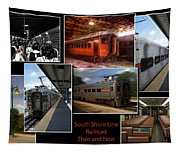 South Shore Line Railroad Collage Tapestry