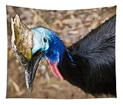 Southern Cassowary Portrait Tapestry