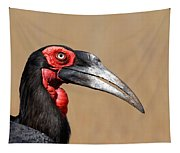 Southern Ground Hornbill Portrait Side View Tapestry