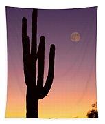 Southwest Desert Moon Glow Tapestry