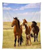 Southwest Wild Horses On Navajo Indian Reservation Tapestry