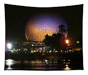 Spaceship Earth At Night Tapestry