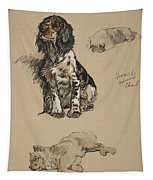 Spaniel, Pekinese And Chow, 1930 Tapestry