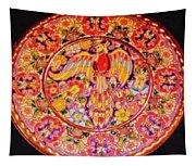Spanish Bird Plate Tapestry