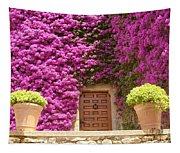Spanish Door With Bougainvillea Tapestry
