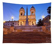 Spanish Steps Dawn Tapestry