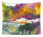 Spanish Village By The River 02 Tapestry