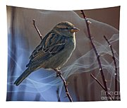Sparrow In A Weave Tapestry