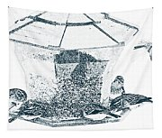 Sparrows In Charcoal Tapestry