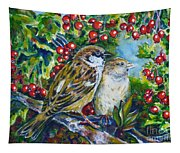 Sparrows On The Hawthorn Tapestry