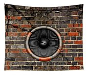 Speaker On A Cracked Brick Wall Tapestry