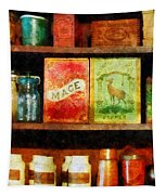 Spices On Shelf Tapestry