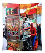 Spider Man Hot Dogs Tapestry
