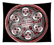 Spinning Celtic Skulls Tapestry