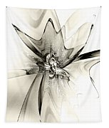Spiral Mania 4 - Black And White Tapestry