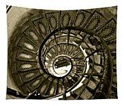 Spirals Down Tapestry