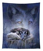 Spirit Of The Blue Fox Tapestry