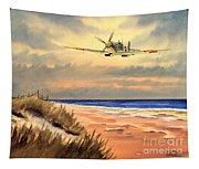 Spitfire Mk9 - Over South Coast England Tapestry
