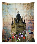 Splattered County Courthouse Tapestry