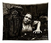 Zombie Lady Sepia Tapestry