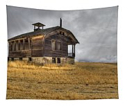 Spooky Old School House Tapestry