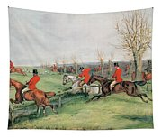 Sporting Scene, 19th Century Tapestry