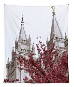 Spring At The Temple Tapestry