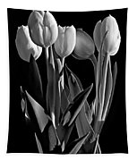 Spring Beauties Bw Tapestry