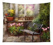Spring - Bench - A Place To Retire  Tapestry