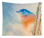Spring Blues - Digital Watercolor Tapestry