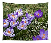 Spring Crocus With Scripture Tapestry