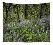 Spring Flowers In The Columbia Gorge Tapestry