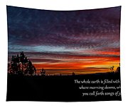 Spring Peaceful Morning Sunrise Bible Verse Photography Tapestry