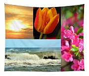 Spring Summer Collage Tapestry