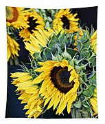 Spring Sunflowers Tapestry
