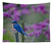Spring Time Blue Bird Tapestry