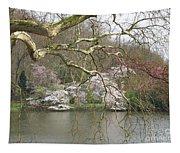 Springtime At The Pond Tapestry