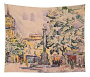 Square Of The Hotel De Ville Tapestry
