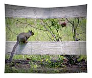 Squirrel And Rosebush Tapestry