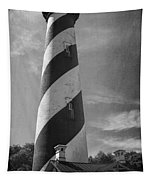 St Augustine Lighthouse Bw Tapestry
