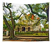 St. Charles Ave. Mansion Paint Tapestry