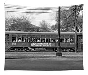 St. Charles Ave. Streetcar Monochrome Tapestry