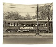 St. Charles Ave. Streetcar Sepia Tapestry