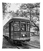 St. Charles Streetcar 2 Bw Tapestry